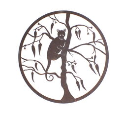 Ringtail Possum Round Metal Garden Wall Art