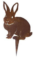 Rabbit Wedge Stake Garden Art