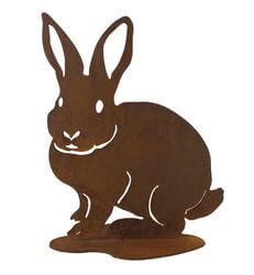 Rabbit on Stand Garden Art
