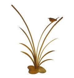 Reeds with Wren Stand Garden Art
