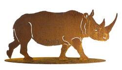 Rhinoceros Stand Garden Art