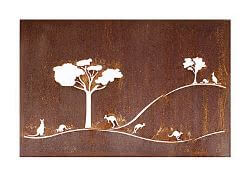 Roo`s and Gum Trees Box Metal Garden Wall Art