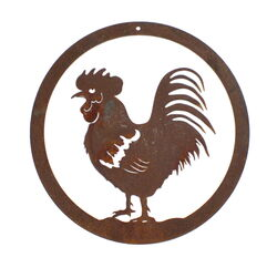 Rooster Round Wall Art