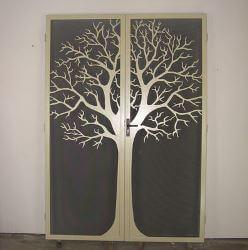 Round Tree Double Doors