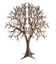Round Tree Metal Garden Art Sculpture
