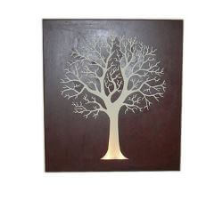Round Tree Box Metal Garden Wall Art