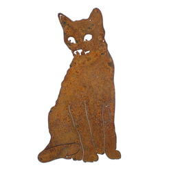 Sitting Cat Magnet Garden Art