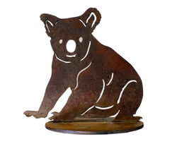 Sitting Koala Stand Small Garden Art