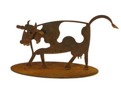 Small Cow Stand Garden Art