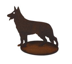 Small Dog Stand Garden Art