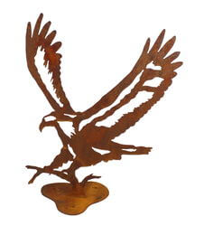 Small Eagle Stand Garden Art