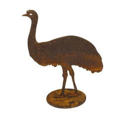 Small Emu Stand Garden Art