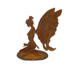 Small Kneeling Fairy Stand Garden Art