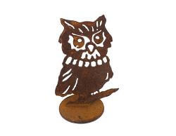 Small Owl Stand Garden Art