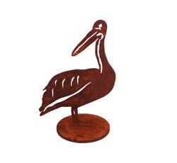 Small Pelican Stand Garden Art