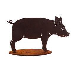 Small Pig Stand Garden Art