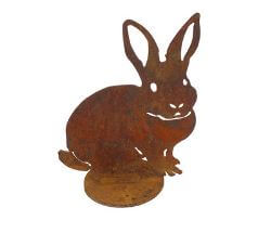 Small Rabbit On Stand Garden Art