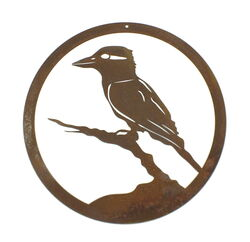 Small Round Kookaburra Panel Wall Art