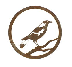 Small Round Magpie 1 Panel Wall Art