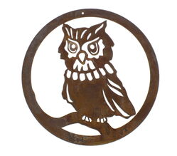 Small Round Owl Panel Wall Art