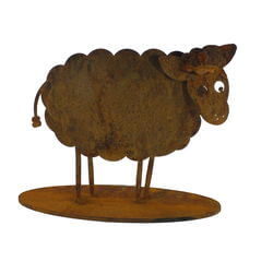 Small Sheep Stand Garden Art