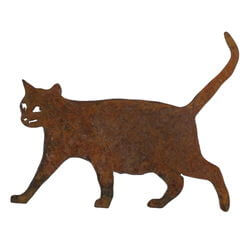 Small Walking Cat Magnet Garden Art