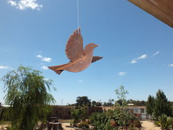 Sparrow Flying Garden Art