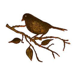 Sparrow Metal Garden Wall Art