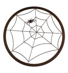 Spiderweb Round Metal Garden Wall Art