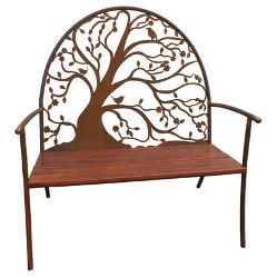 Spring Tree outdoor garden bench seat