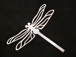 Stainless Steel Dragonfly Magnet Garden Art