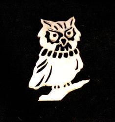 Stainless Steel Owl Magnet Garden Art