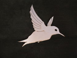 Stainless Steel Honeyeater Magnet Garden Art