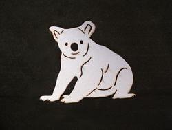 Stainless Steel Koala Magnet Garden Art
