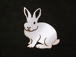 Stainless Steel Rabbit Magnet Garden Art