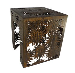 Sunflower Garden Metal Stool