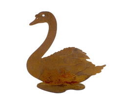 Swan Stand Medium Garden Art