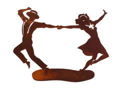 Swing Dancers Two Garden Art