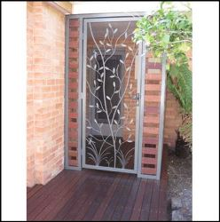 Security Screen Door by Overwrought - Tree and reed door
