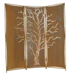 Three Panel Free Standing Tree Privacy Screen