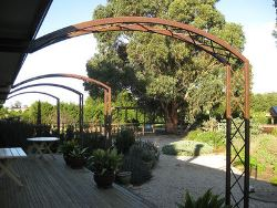 Steel Garden Arch by Overwrought