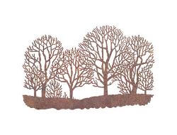 Winter Trees Metal Garden Wall Art