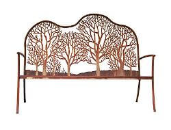 Winter Trees Outdoor Garden Bench Seat