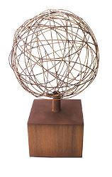 Wire Ball on Plinth  Sculpture