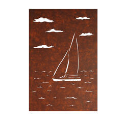 Yacht Panel Metal Garden Wall Art 1